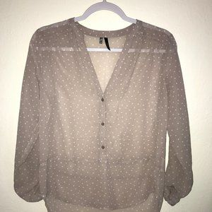 Maurices Brand sheer tunic XS
